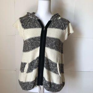Free People sweater vest hood womens medium